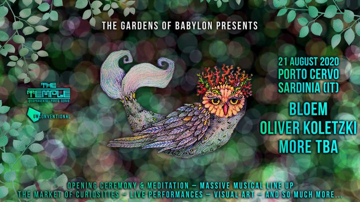 "Cover for event: ""The Gardens of Babylon"" 21.8"