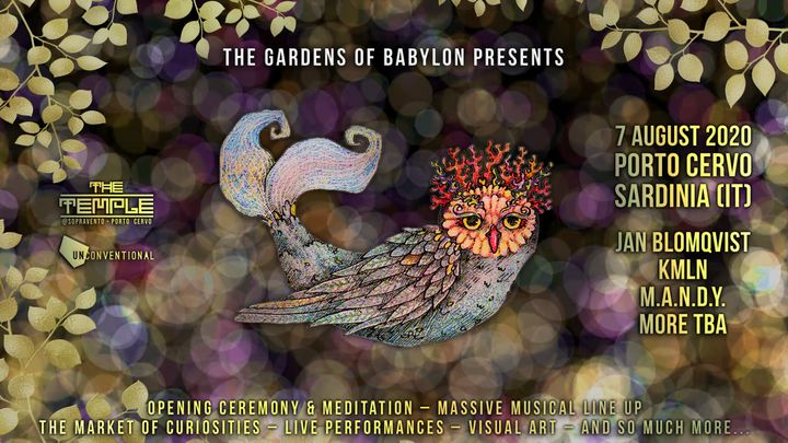 """Cover for event: """"The Gardens of Babylon"""" 7.8"""