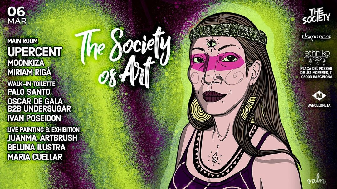 Cartell de l'esdeveniment The Society of Art w/ Upercent at Ethniko Barcelona