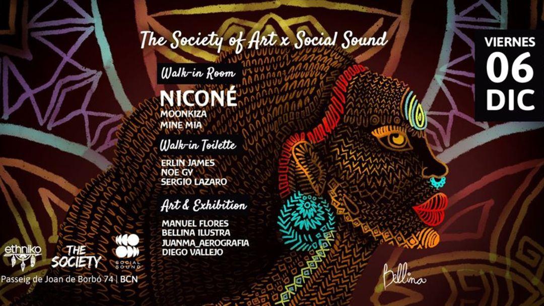 Copertina evento The Society of Art x Social Sound w/ Niconé   Ethniko Barcelona