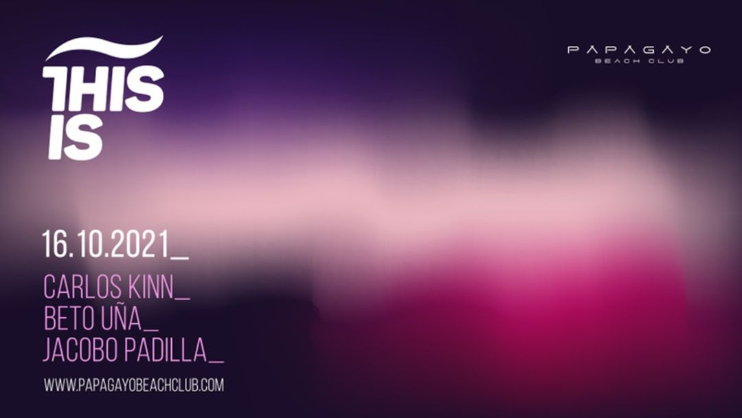 Cartel del evento This is 21:30 a 03:30