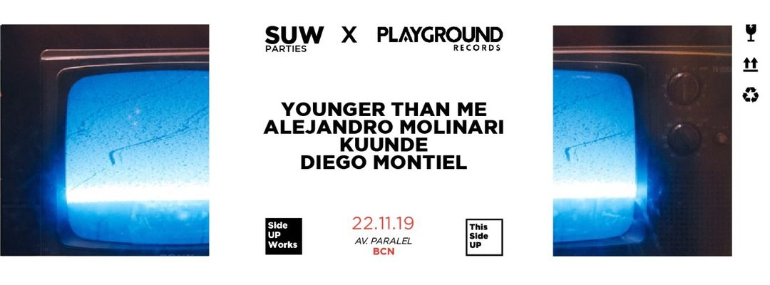 This Side UP x Playground Rec. w/ Younger Than Me + Alejandro Molinari event cover