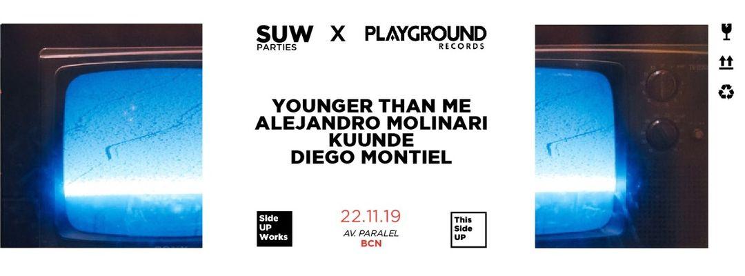 Capa do evento This Side UP x Playground Rec. w/ Younger Than Me + Alejandro Molinari