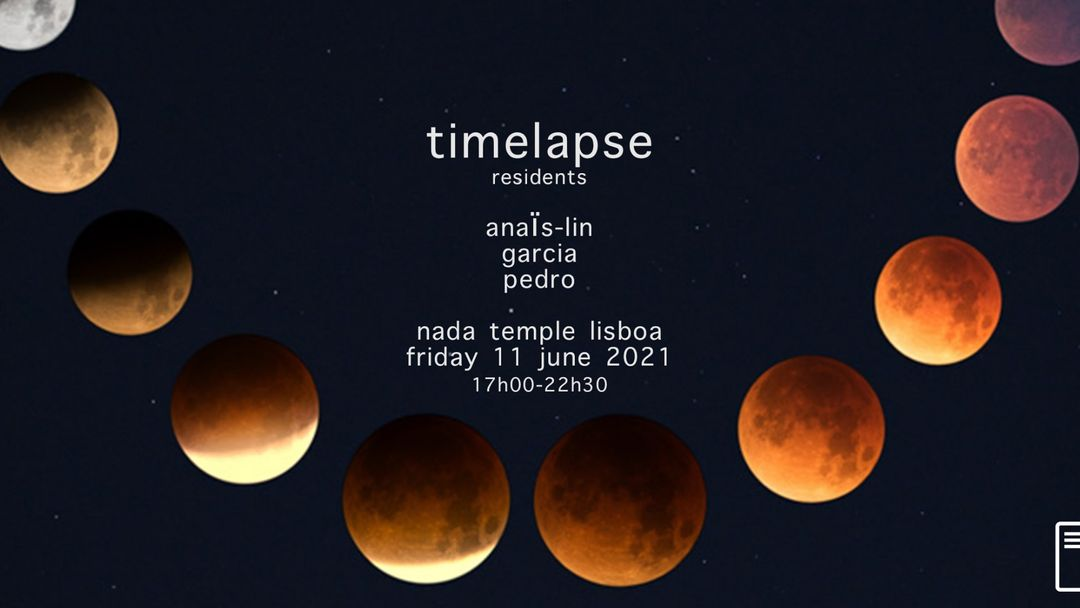 Timelapse residents w/ Anaïs-Lin, Garcia & Pedro event cover
