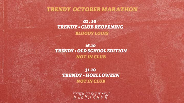 Cover for event: TRENDY OCTOBER MARATHON