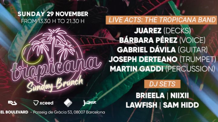 Cover for event: Tropicana Sunday Brunch | Domingos Sabrosónicos