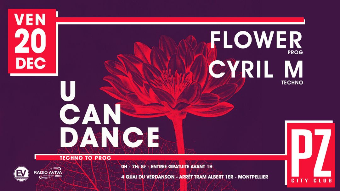 U CAN DANCE Prog & Techno @PZ city club-Eventplakat