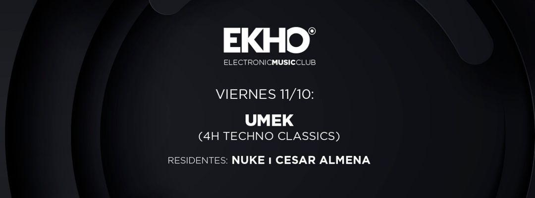 Cartel del evento UMEK 4h Techno Classics