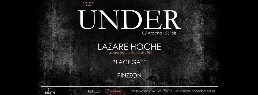 Cartel del evento UNDER w/ Lazare Hoche