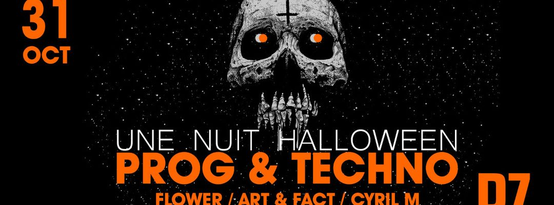 Cartell de l'esdeveniment Une Nuit Halloween PROG & TECHNO @PZ city club