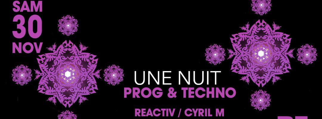 Capa do evento Une Nuit Prog & Techno @PZ city club
