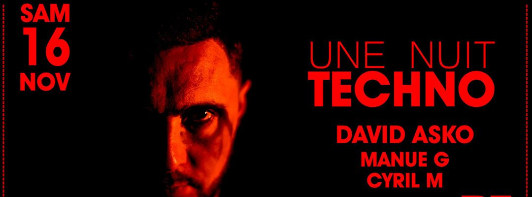 Une Nuit Techno @PZ city club-Eventplakat