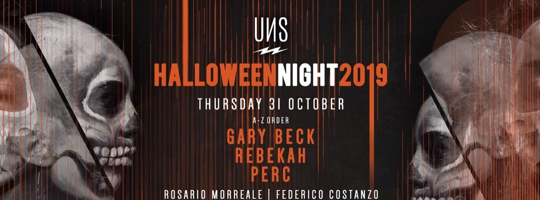 UNS Halloween Night 2019 e NJH w/ Rebekah, Perc, Gary Beck and many more event cover