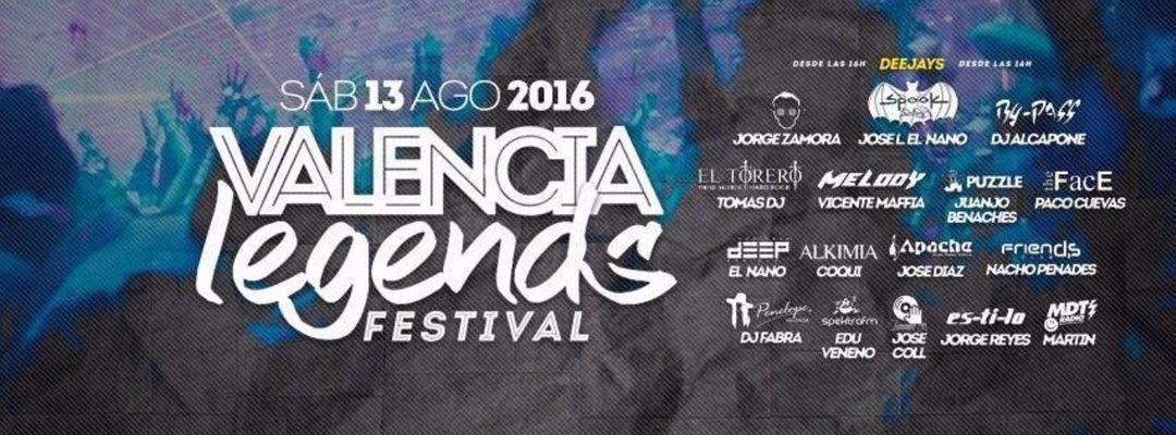 Cartel del evento Valencia Legends Festival