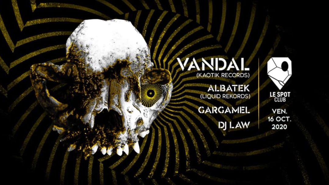 Cartel del evento Vandal (Kaotik Records) + Albatek, Gargamel & DJ Law
