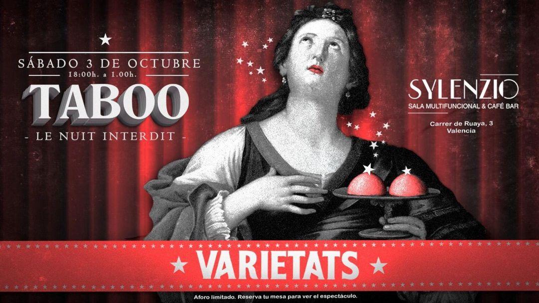 Cartel del evento Varietats - Taboo