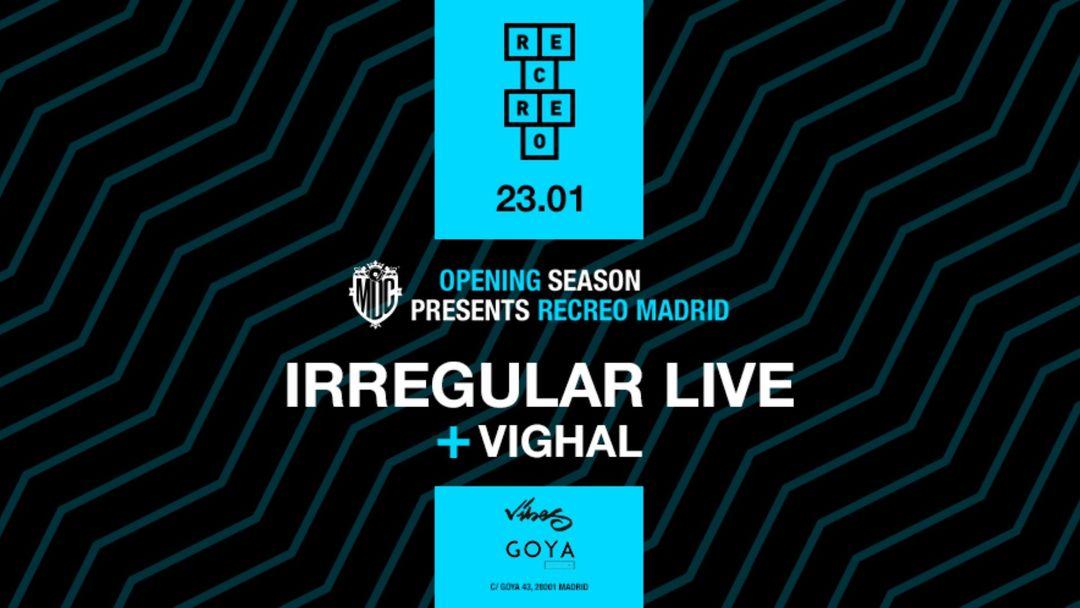 Cartel del evento Vibes meets Recreo MDC @Goya Social Club Madrid