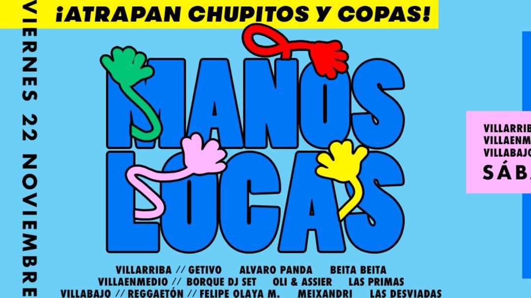 VIERNES 3 SALAS: MANOS LOCAS (atrapan chupitos y copas) #CUENCAclub event cover