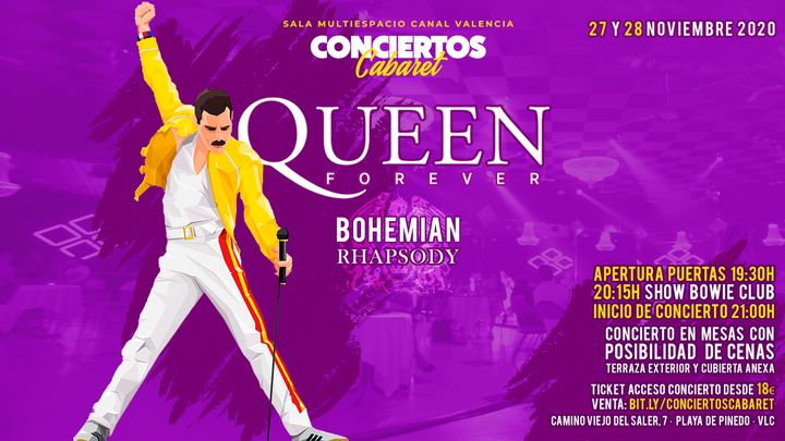 Cover for event: VIERNES - Conciertos Cabaret - Queen Forever