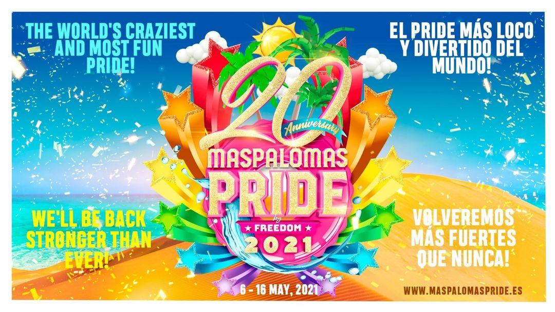 Cartel del evento VIP PRIDE PARK PASS Maspalomas Pride 2021