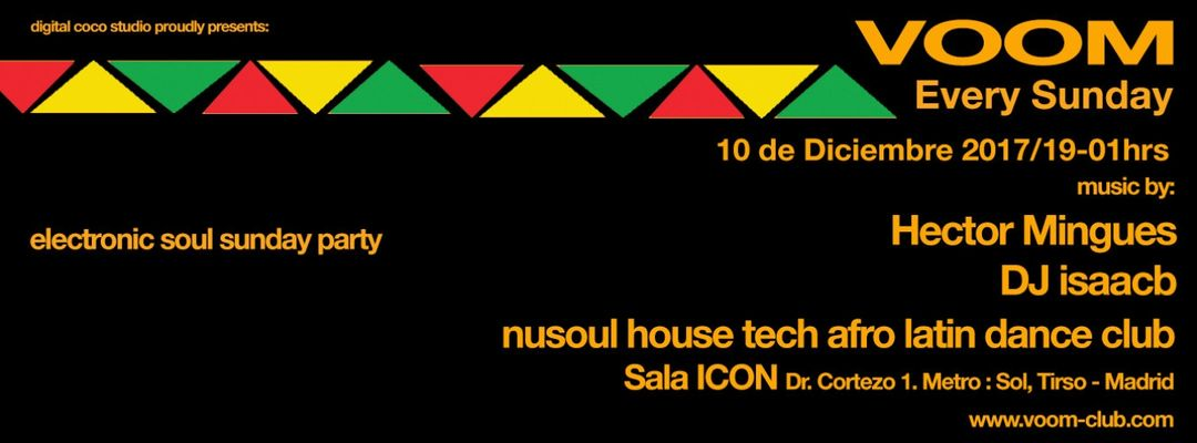 Cartel del evento VOOM CLUB - electronic soul sunday party