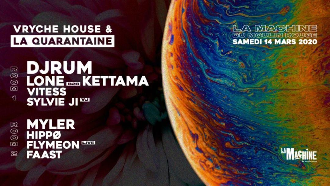Cartel del evento Vryche House Meets La Quarantaine