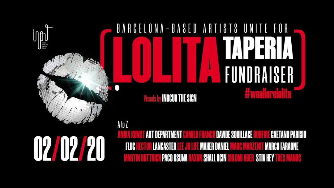 Cartel del evento We all are Lolita - fundraising event