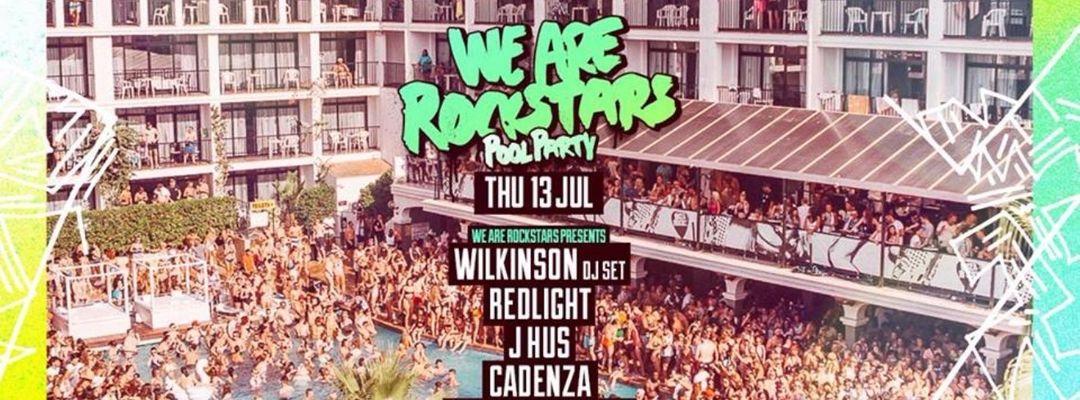 Cartel del evento We Are Rockstars Pool Party w/ Wilkinson, Redlight, J Hus + more