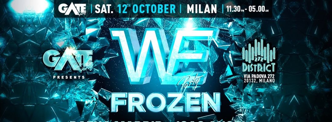 We Party - Frozen event cover
