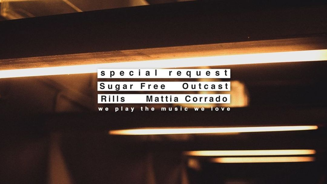 We Play The Music We Love 'Special Request' feat. Sugar Free & Outcast-Eventplakat