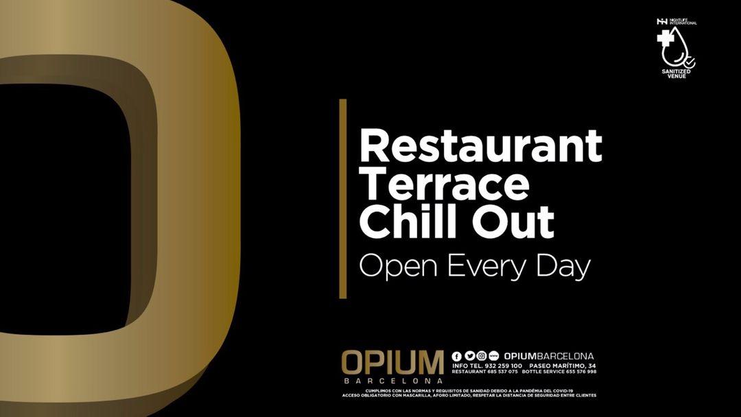 Cartell de l'esdeveniment Wednesday | Restaurant, Terrace & Chill Out