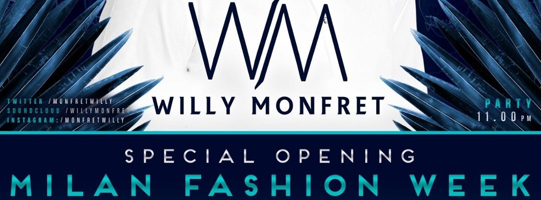 Cartel del evento Willy Monfret