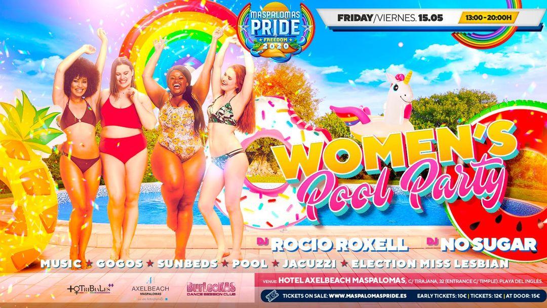 Cartel del evento Women's Pool Party - Official Event Maspalomas Pride 2021