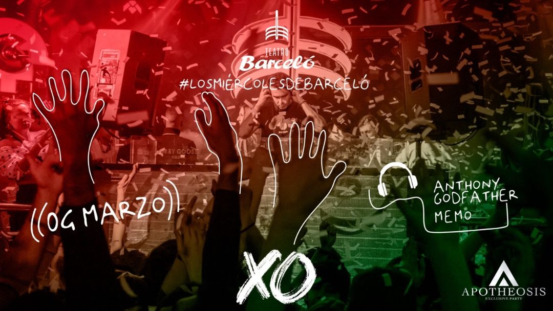 XO Party @ TEATRO BARCELO ( Open bar  ) event cover
