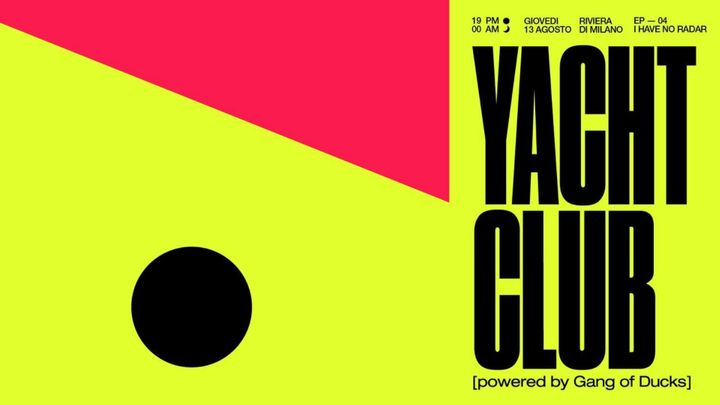 Cover for event: Yatch club - ep.4 @Bunker