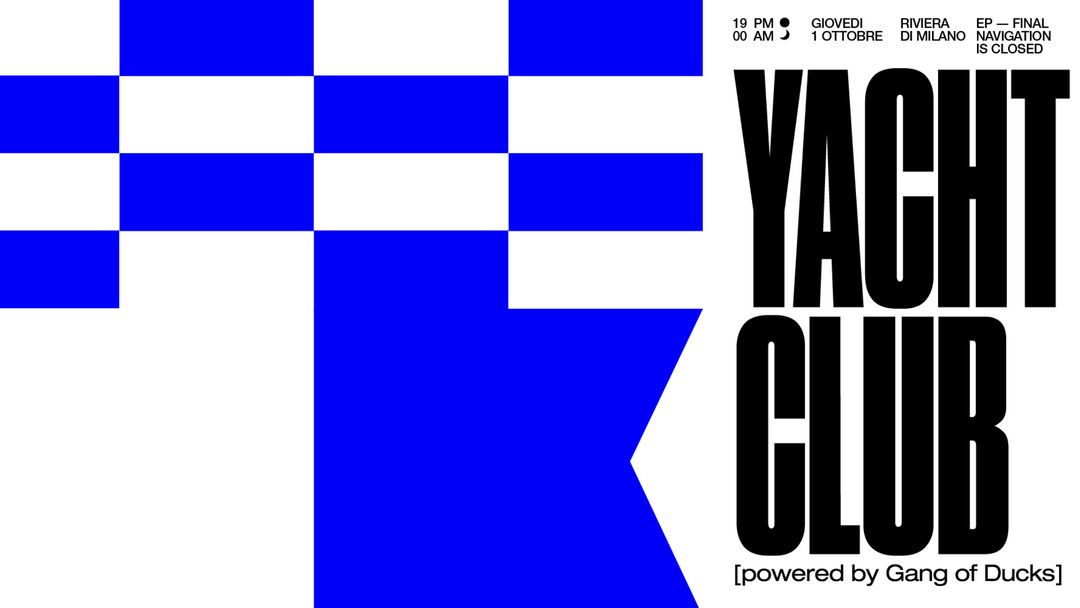 Cartel del evento Yatch Club - Ultimo Episodio @Bunker
