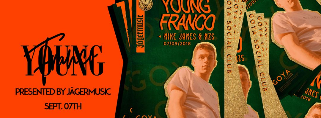 Cartel del evento Young Franco pres. by Jägermusic