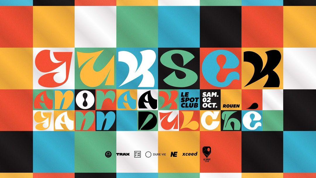 YUKSEK + ANORAAK + Yann Dulché event cover