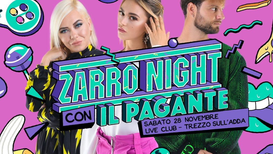 Zarro Night® con Il Pagante • Trezzo ⁍ Live Club-Eventplakat